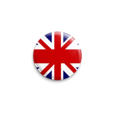 Значок 25мм  флаг Великобритании