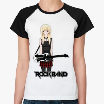 Женская футболка реглан 'Rock Band'