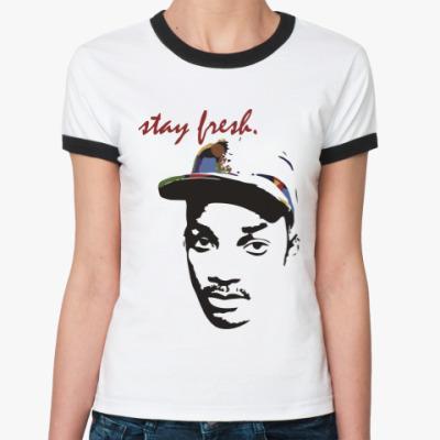 Женская футболка Ringer-T Оставайся свежим