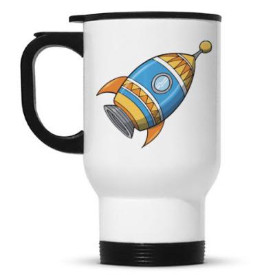 Кружка-термос Космос. Ракета.
