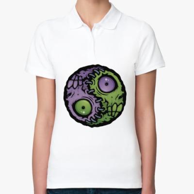 Женская рубашка поло Зомби инь-ян