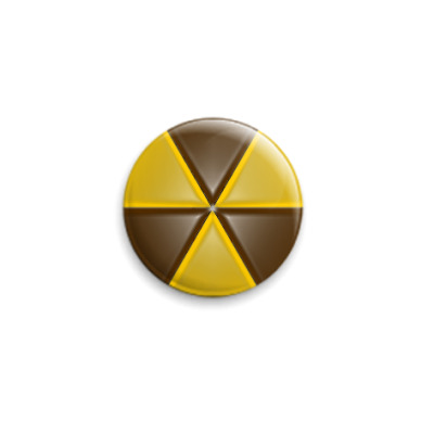Значок 25мм  радиации