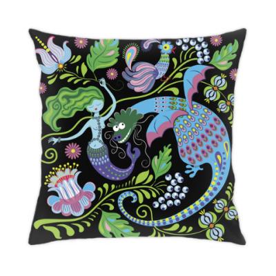 Подушка Дракон и русалка