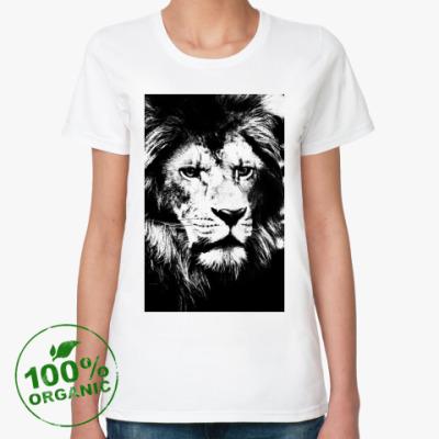 Женская футболка из органик-хлопка Black Lion