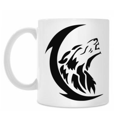 Кружка Волк и луна
