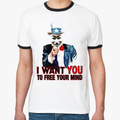 Футболка Ringer-T Anonymous Uncle Sam