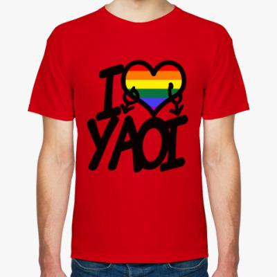 Футболка I love yaoi (Boys' Love)