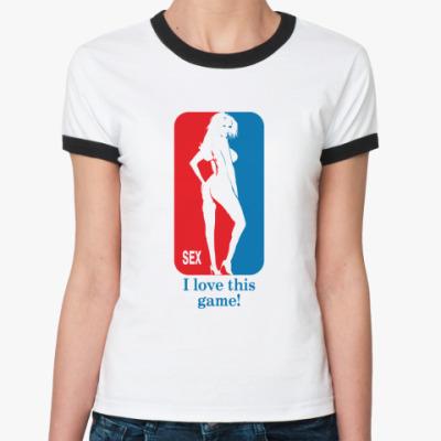 Женская футболка Ringer-T  Sex