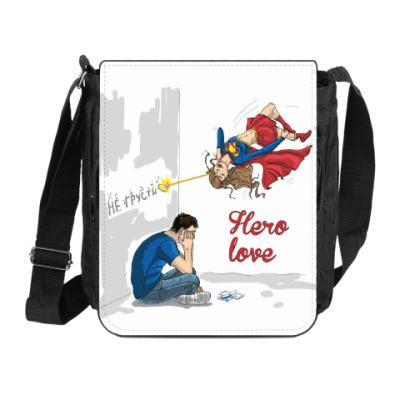 Сумка на плечо (мини-планшет) Hero-вая любовь