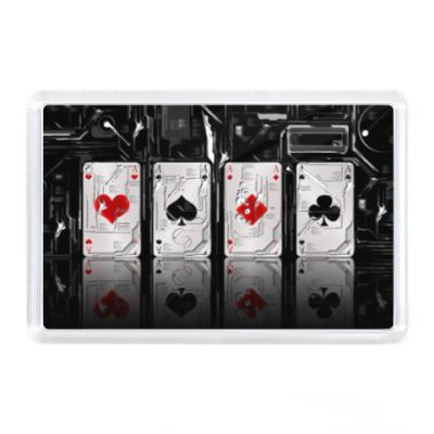 Магнит 4 туза, карты, покер