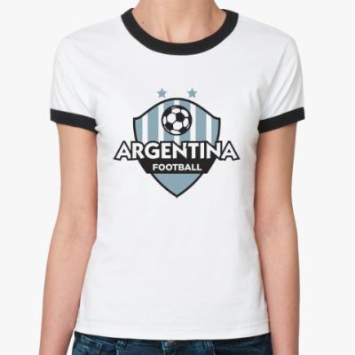 Женская футболка Ringer-T Футбол Аргентины