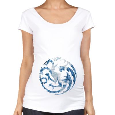 Футболка для беременных Khaleesi and Dragons
