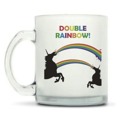 Кружка матовая Двойная радуга