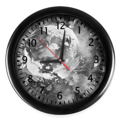 Настенные часы Черно-белая роза. Фантазия