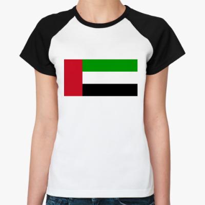 Женская футболка реглан Флаг ОАЭ