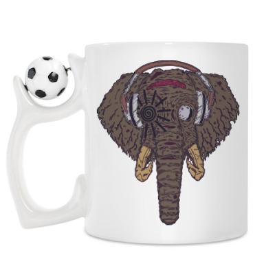 Кружка Слон в наушниках