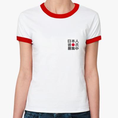 Женская футболка Ringer-T Ищу японского друга