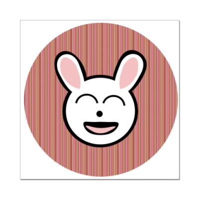 Наклейка (стикер)   funny bunny