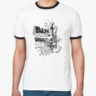 Футболка Ringer-T  urban rock