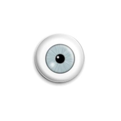 Значок 25мм Серый глаз