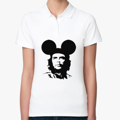 Женская рубашка поло  Mickey Mouse Che Guevara