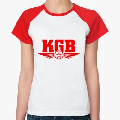Женская футболка реглан КГБ