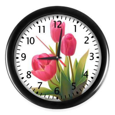 Настенные часы Весенние тюльпаны