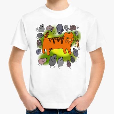 Детская футболка Кот и мыши