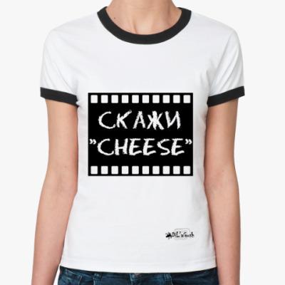 Женская футболка Ringer-T 'Чиииз'