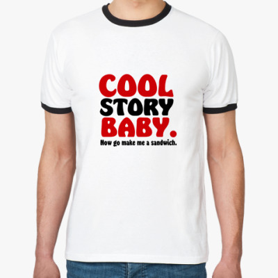 Футболка Ringer-T Cool Story Baby