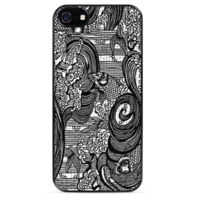 Чехол для iPhone японская гравюра море графика