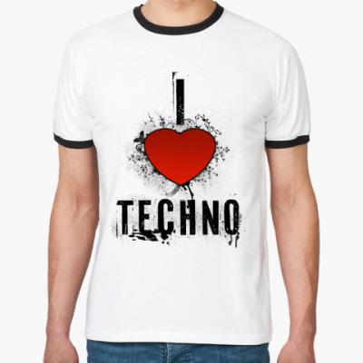 Футболка Ringer-T I LOVE TECHNO