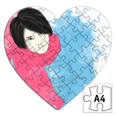 Пазл  сердце Тегоши