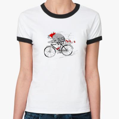 Женская футболка Ringer-T Грибная бабушка