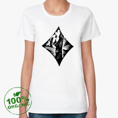 Женская футболка из органик-хлопка Время и вечность