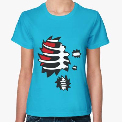 Женская футболка Зомби ребра