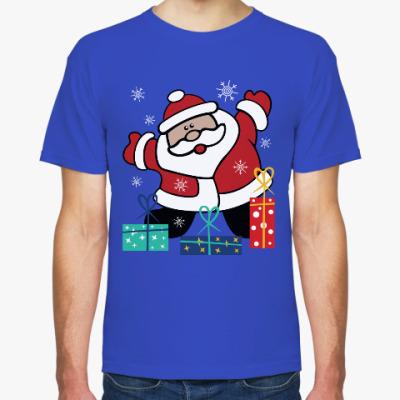 Футболка Дед Мороз с подарками