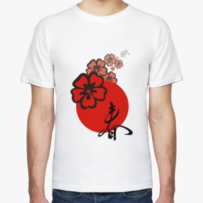 Футболка Японский Иероглиф Весна