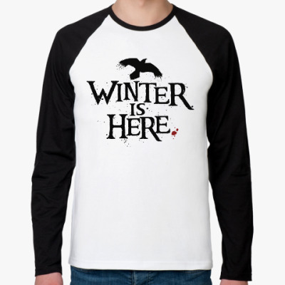 Футболка реглан с длинным рукавом Игра престолов. Winter is here