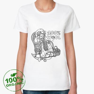 Женская футболка из органик-хлопка 100% wool