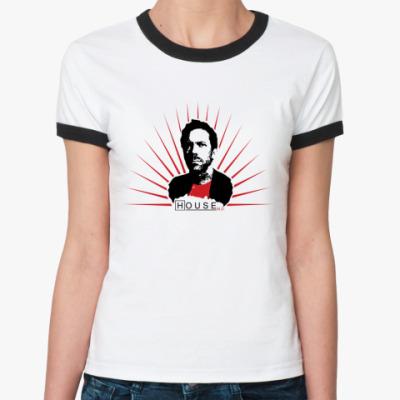 Женская футболка Ringer-T House sun