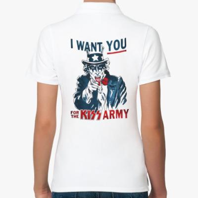 Женская рубашка поло Kiss