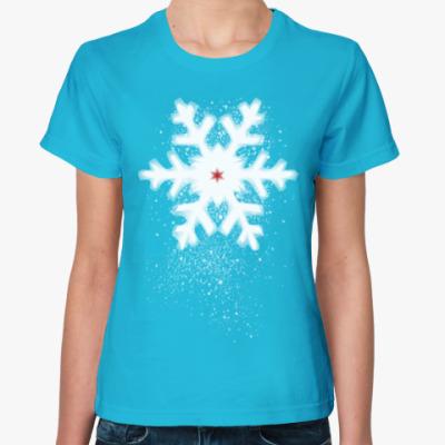 Женская футболка Снежинка