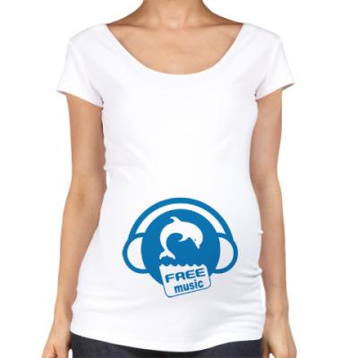 Футболка для беременных Free Music