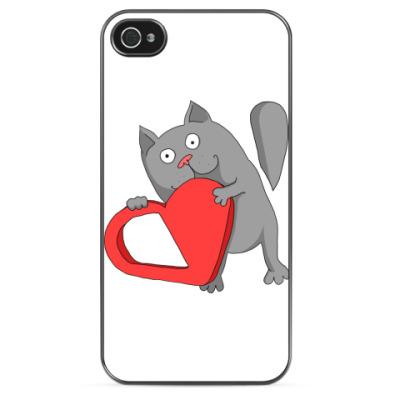 Чехол для iPhone Кот и конфеты