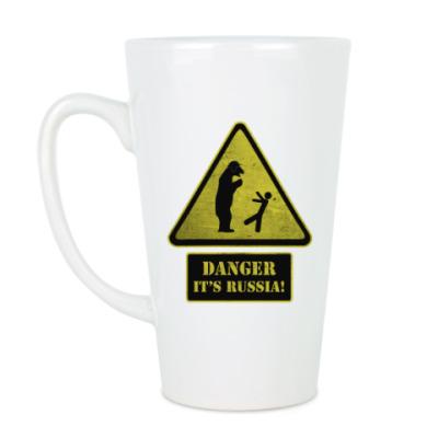 Чашка Латте Danger It's Russia