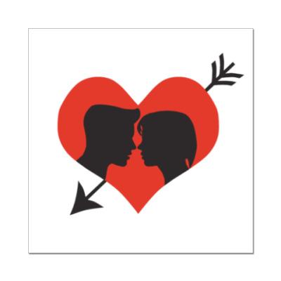 Наклейка (стикер) Сердце хочет любви