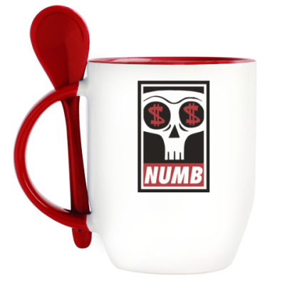 Кружка с ложкой Numb