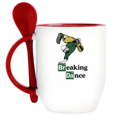 Кружка с ложкой Breaking Dance