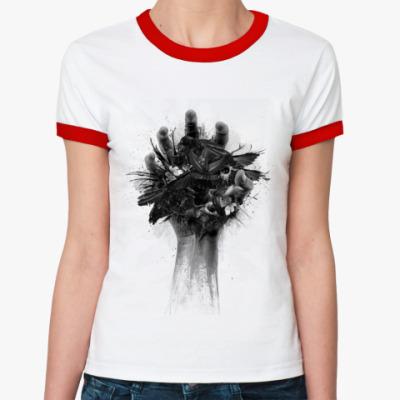 Женская футболка Ringer-T   Hand